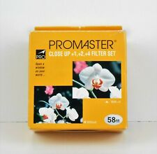 Promaster (5109) 58 mm, Close Up +1, +2, +4 Filter Set, New In Box, Unused