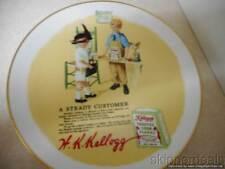 "1985 KELLOGG'S NOSTALGIA DECORATIVE PLATE ""A STEADY CUSTOMER"" PERFECT CONDITION"