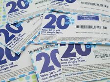 BED BATH & BEYOND 25 20% OFF COUPONS AND 1 $5 OFF COUPON