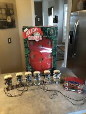 Vintage 1992 Mr. Christmas Holiday Carousel 6 Horses & 21 Carols-Works-w/Box