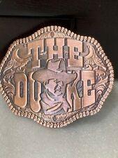 "John Wayne COPPER ""The Duke"" Solid Metal Belt Buckle"