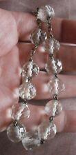 Bracelet dizainier fin XIXème - Laiton & 12 perles cristal à facettes taillées