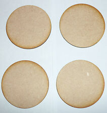 4 x 60mm (6cm),  WOODEN CIRCLE, (ROUND BASE ) SHAPES LASER CUT MDF. Blanks