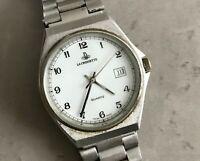 rare La Croisette ETA 955.412 swiss made quartz watch 35mm white dial bracelet