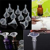 20pcs Mini Small Plastic Funnels For Perfume Liquid Oil Filling Empty Bottle New