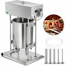 Poussoir à Saucisses Machine à Saucisses Électrique 25L INOX 5xTubes Viande