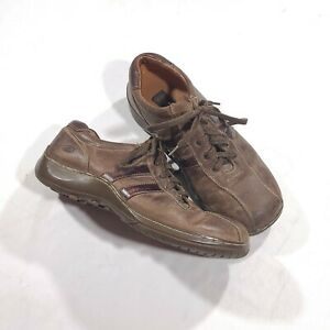 Skechers Mens Size 9.5 Shoes Brown Leather Sneakers Casual Oxford SN4400