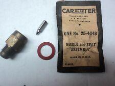 NOS 1956-1960 Rambler Six Carter Carburetor Needle & Seat 25-404S 1957 1958 1959