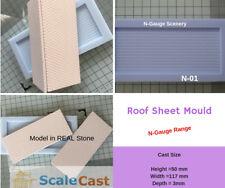 N-Scale Roofing Mould - Model Railway scenery for N Gauge, Cast your own Roofs