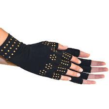 Guanti neri per l'artrite Compressione Guanti senza dita Anti-artrite