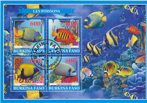 Fish Burkina Faso 2019 Postmarked 2933