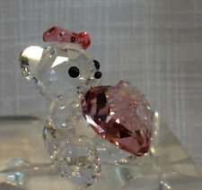 "Swarovski Kris Bear, ""Only For You,"" Pink Heart, Mib W/Pamphlet, #1096732"