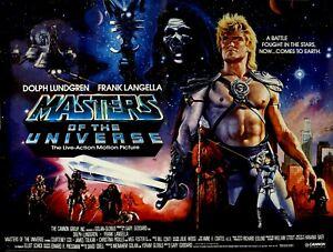 "MASTERS OF THE UNIVERSE 1987 repro UK quad Cinema poster 30x40"" FREE P&P"