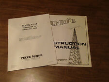 Hy gain EX 14 Explorer 14 QK 710 Quad Band Instruction Manual Install Parts List