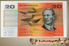 $20 'Knight-Wheeler' 1976 (R406a) Consec Pair, Gothic Centre Fold .. aUNC