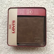 Levi's Men's Rfid Security Blocking Passcase Wallet - Tan (Brand New)