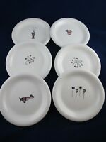 Hausenware 4th of July Theme SNACK PLATES Set of 6  Red  White  Blue