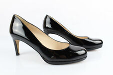 Andre Court Shoes Black Patent Leather T 38 Very Good Condition