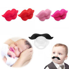 Silicone Infant Pacifier Orthodontic Nipples Dummy Mustache Funny Beard Mouth