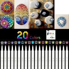Premium Acrylstifte Marker Stifte für Steine, 20 Farben Marker Paint Pen