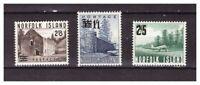 S21175) Norfolk Island 1960 MNH New Definitives Overprinted 3v