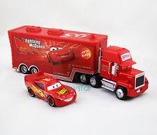 2-Pack  Disney Pixar Cars1 Lightning McQueen&Mack Superliner Truck Toy Car Set