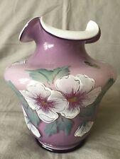 Fenton Art Glass Violet Overlay Vase
