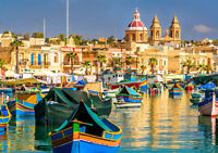 "MARSAXLOKK BAY MALTA NEW A4 CANVAS GICLEE ART PRINT POSTER 11.7""x8.3"""
