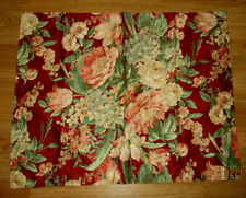 Vt Ralph Lauren 1 Euro Pillow Sham 30x30''Beautifu l Floral Red Made In Italy
