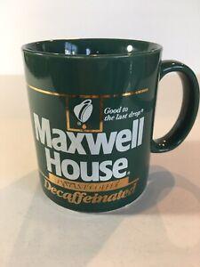 GREEN MAXWELL HOUSE DECAFFEINATED INSTANT COFFEE MUG