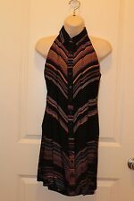 NEW DG Button Down Dress with designed back color black with design Size M