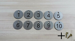 10 Laser Engraved Number Discs, Table, Tags, Locker, Pub, Restaurant, Clubs