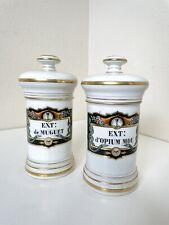 French Opium Jar Canister Ceramic Mid Century Modern Era
