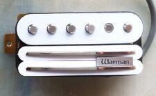 Blanc Warman G-rail triple bobine pickup simplifié, 4 fil de sortie version