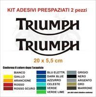 Kit Adesivi Triumph 2 pezzi coppia street speed triple scrambler bonneville PVC