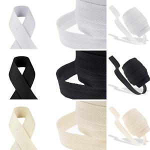 0.4/ 0.78/ 1 inch Cotton Herringbone Apron Bunting Webbing Twill Sew Bind Strap