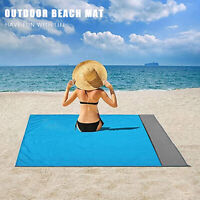 Sandfree Beach Blanket Pocket Picnic Mat Water Sand Proof Travel Camping Hiking