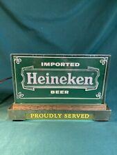 Vintage Lighted Heineken Holland Beer Proudly Served Register Sign Light, Works