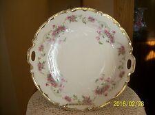 Elegant Vtg Porcelain Wedding White & Pink Floral Spray Serving Charger Platter