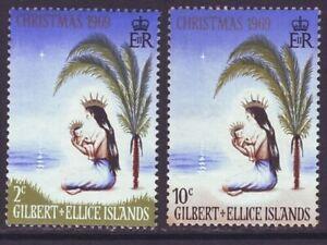 Gilbert & Ellice Islands 1969 SC 157-158 MNH Set Christmas