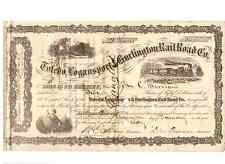 Toledo Logansport & Burlington Railway 1860