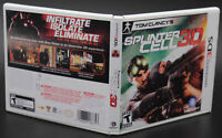 Splinter Cell 3D Nintendo 3DS Replacement Game Case And Insert (No GAME DISC)