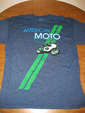 AMERICAN MOTO GRAND PRIX T shirt XL tee motorcycle road racing Est. 1967