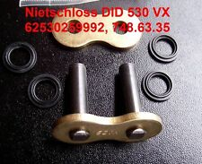 DID Nietschloss DID 530 VX, DID530VX, Hohlniet, gold, rivet link ZJ X-Ring, Niet
