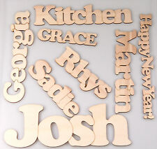 Cooper Black Font 3mm Ply Wooden Chain Name or any Word, Choice of Letter Sizes
