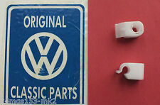 VW MK2 Golf Genuine OEM Bonnet Release Cable Holding Clips 2 Pack - Brand New!!