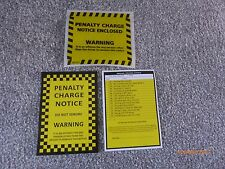 10 x Fake Joke Prank Parking Tickets with 10 Genuine Penalty Charge Envelopes