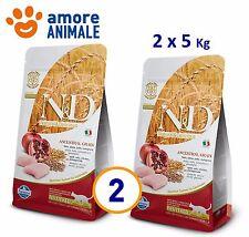2 SACCHI Farmina N&D Low Grain Feline Neutered Pollo e Melograno. 5 Kg per gatti