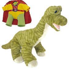 Build a Bear Dinosaur Brachiosaurus Super Dino Red Cape Long Neck Green Stripe