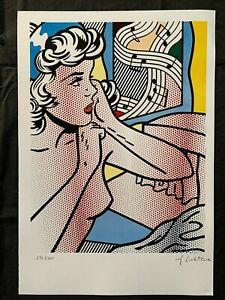 Original vintage rare lithography on paper!hand signed Roy Lichtenstein #3